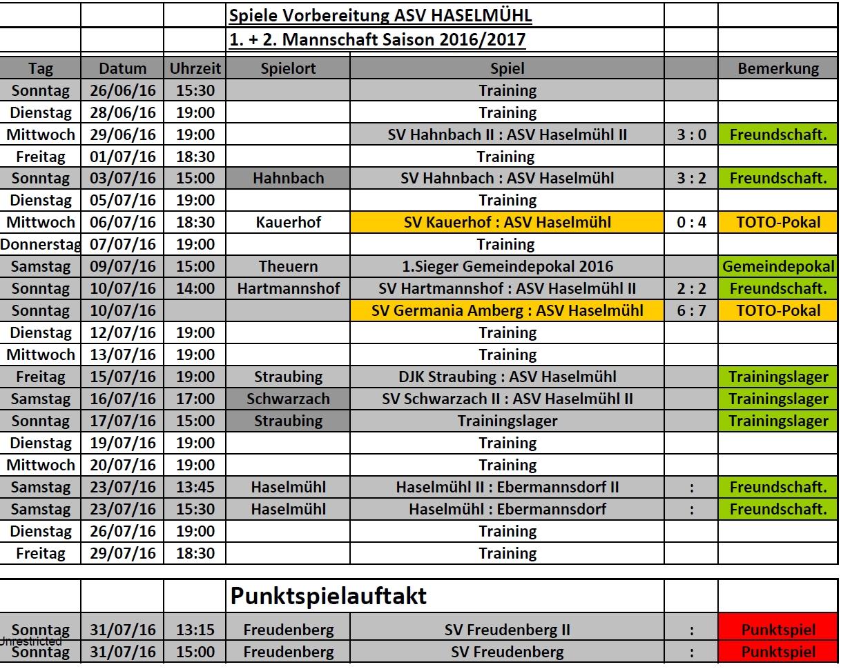 Vorbereitungsplan Sommer 16 17